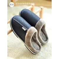 防水棉拖鞋冬季男士冬天厚底保暖居家防滑室内毛托鞋女士