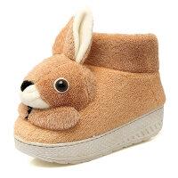 棉拖鞋女包跟可爱冬季室内家用厚底毛毛加绒冬天保暖家居卡通棉鞋