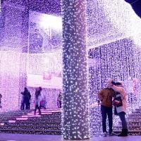 防水LED彩灯闪灯串灯满天星星装饰工程亮化节日圣诞婚庆时光隧道