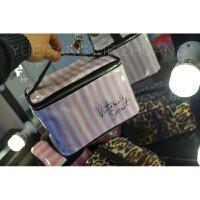 韩国简约大容量化妆包便携维密收纳包化妆箱洗漱豹纹旅行大号粉色