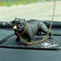 ?车内饰品摆件恶霸犬个性创意汽车内饰轿车中控台装饰车载用品