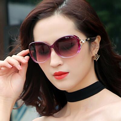 珍珠太阳镜圆脸女士墨镜女潮防紫外线gm眼镜