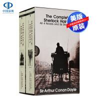 现货 福尔摩斯探案集全集小说2册全盒装 英文原版Sherlock Holmes 侦探悬疑推理小说青少年书籍 柯南道尔 世