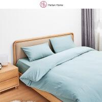 海澜优选床上用品套件家纺日式简约舒适水洗棉四件套床单款