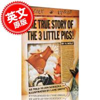 现货 三只小猪的真实故事 英文原版 thrue story of the three little pigs 儿童读物