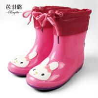 儿童雨鞋男童女防滑学生夏幼儿园宝宝雨靴小孩子水鞋加绒四季