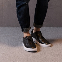 【2件2.5折价99元】唐狮男士休闲英伦风低帮皮鞋韩版潮流秋季学生帆布鞋子男板鞋