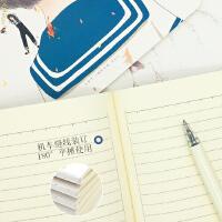 晨光笔记本子记事本女韩国小清新大学生用简约软面抄作业本a5日记本