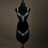 丝线吊带拉丁舞表演服流苏拉丁舞比赛服连衣裙女新款