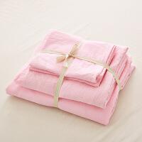 ???床上用品水洗棉床单四件套被套全棉三件套1.8m床简约纯棉网红