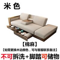 布艺小户型沙发床可折叠两用多功能整装经济省空间客厅双三人组合 2米以上
