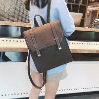 韩版时尚百搭双肩包女包包2018新款双箭头定型包中学生书包女校园