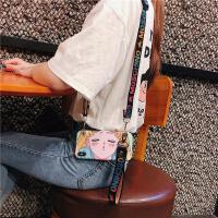 美少女可斜挎手机壳6s苹果xr背包式iphone7/8plus挂脖挂绳xsmax女 图片仅供图案颜色参考 请根据型号下