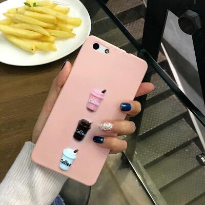 oppor8007手机壳r8207软套a51kc创意r1s韩国少女粉咖啡杯a31t/cu r1c/r8207 黑色