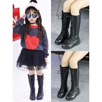 女童靴子儿童鞋子2018秋冬新款韩版长靴大童高筒靴加绒二棉马丁靴
