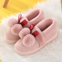 棉拖鞋女冬季包跟室�染蛹矣每�垌n版保暖厚底防滑毛�q拖鞋月子鞋