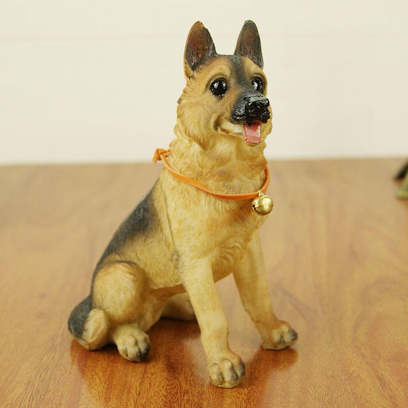 仿真德国牧羊犬 汽车家居装饰工艺品桌面摆件 树脂小狗狗模型礼物 一般在付款后3-90天左右发货,具体发货时间请以与客服协商的时间为准