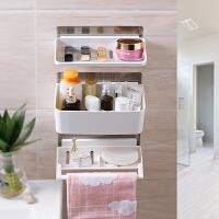 卫生间吸盘置物架浴室用品厨房吸壁式洗手间厕所收纳架壁挂免打孔