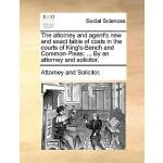 【预订】The Attorney and Agent's New and Exact Table of Cos