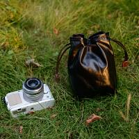 适用富士微单xa3 xt2相机内胆包XM1 XA2羊皮袋X100FX100S软包皮套 中号 送手绳