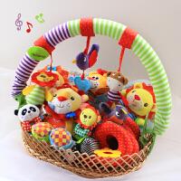新生儿礼盒玩具男女宝宝婴儿礼盒满月百天周岁礼物音乐大礼篮 0-3岁宝宝