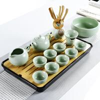 家用日式竹制茶托盘陶瓷功夫茶具茶盘套装简约迷你储水干泡小茶台