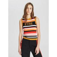 【1件4折到手价:99.6】MECITY女装2019夏季新款时尚撞色字母印花无袖毛衫
