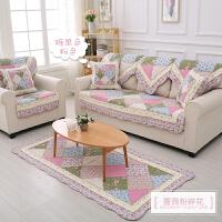 韩式田园 四季通用 欧式布艺沙发垫坐垫 防滑靠背巾罩套