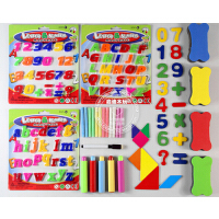 磁性白板笔黑板擦七巧板数字大写小写字母粉笔套画板黑板白板配件