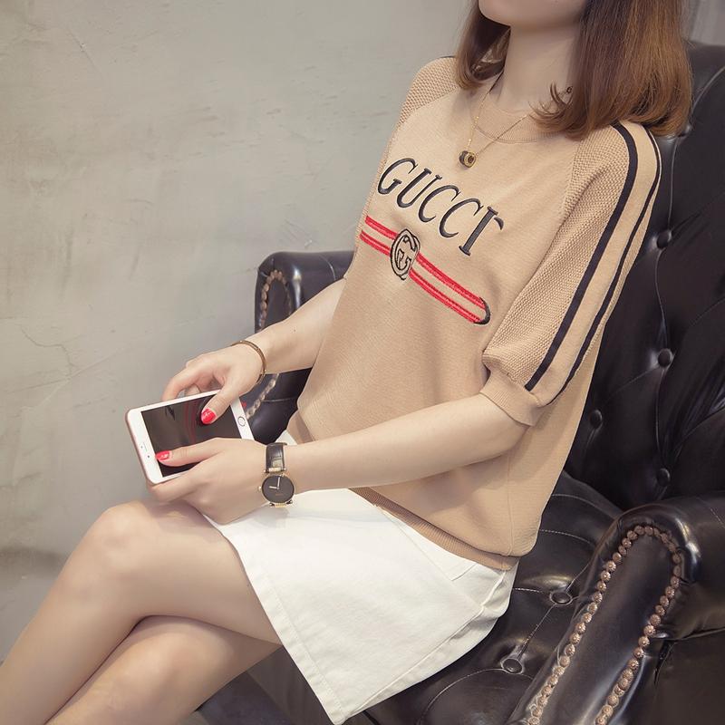 女装短袖t恤女上衣2018夏韩式新款学生ins气质圆领青春时尚体恤