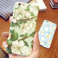 【包邮】文艺梨花苹果6s手机壳iPhone6plus半包磨砂5.5外壳硬壳6保护套iphone5s手机壳iPhone6