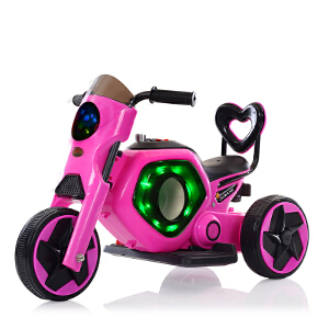 【当当自营】炫梦奇儿童电动摩托车三轮车电动童车电瓶车 可坐音乐闪光 公主粉