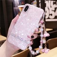 新款iphone手机壳水钻女7plus全包软硅胶8x奢华带钻网红潮