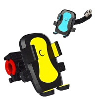 电动车摩托车自行车手机支架车载导航支架通用360度旋转自动上锁