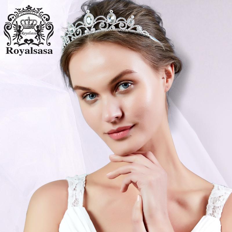 皇家莎莎新娘头饰大皇冠结婚婚纱礼服仿水晶饰品巴洛克女王 发饰品 秋冬上新