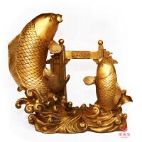 风水铜鲤鱼跳龙门摆件鱼跃龙门步步高升事业腾达招财铜鱼