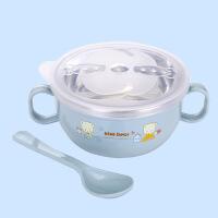 304不锈钢碗家用双层隔热碗宝宝吃饭防摔碗喝汤碗婴幼儿童辅食碗A