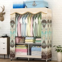 简易折叠衣柜无需安装快速组装布衣柜可拆卸金属全钢架免安装衣橱