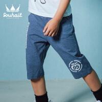 水孩儿souhait男童短裤夏薄款新款夏装儿童裤子男运动休闲短裤AKPXM553