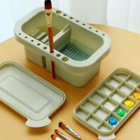 三件套多用折叠水桶水粉桶美术洗笔桶筒自来水笔多功能洗笔桶水粉水彩油画颜料套装手提式涮笔筒调色盘
