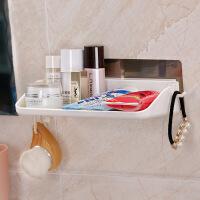 双庆无痕吸盘卫生间用品浴室置物架厕所层架洗手间壁挂架 此价格为1个装
