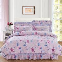 床裙式床罩四件套床上床套被套1.5米1.8m款带公主风床单