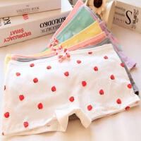 草莓可爱少女安全内裤四角防走光女士平角内裤批�l 均码1尺8-2尺2