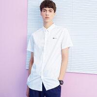 【1件2折到手价:33.2】美特斯邦威衬衫男短袖潮流夏季新款修身韩版印花衬衣商场款