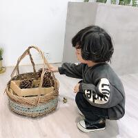 男童加绒卫衣2018新款加厚保暖1-3-5岁儿童秋冬装宝宝抓绒上衣潮