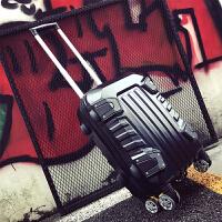 2018行李箱男个性韩版万向轮旅行箱密码学生拉杆箱28寸24寸潮青年男士 黑色 (送旅行套装) 20寸