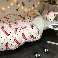 ???北欧简约小清新床单四件套3学生床上用品宿舍单人三件套被套4 summer 主图