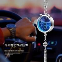 创意汽车香水时钟表挂件 车用香水挂饰除异味车内饰品挂件
