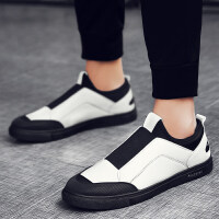男鞋冬季潮鞋2018新款豆豆鞋子男韩版社会精神小伙个性休闲懒人鞋