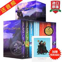 正版 哈利波特全集英文版原版小说 Harry Potter 1-7全套英国版 JK罗琳 哈利波特与魔法石密室死亡圣器纪
